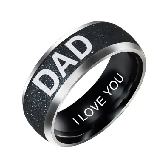 Bluelans Fashion Mom Dad Daughter Son Letters Band Stainless Steel Family Member Ring