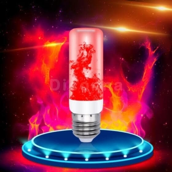 4 Modes LED Flame Effect Fire Light Bulb E27 Simulated Nature Flicking Lamp New