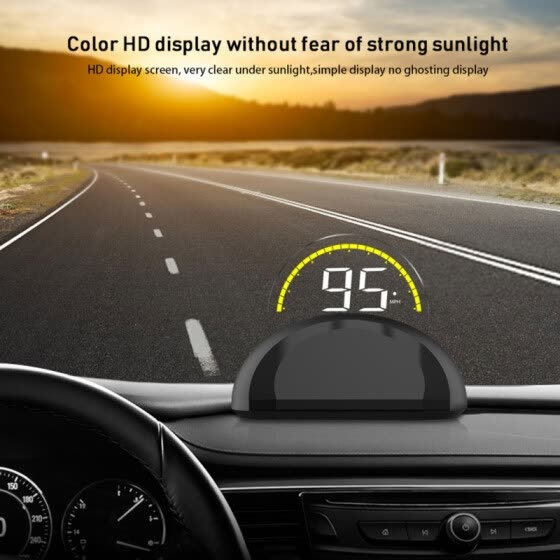 C700 OBD2 Hud Head-Up Display With Mirror Digital Projection Car speedometer On-Board Computer Fuel Mileage Temp New