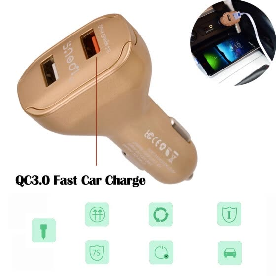 Dual USB Fast Car Charger 2 Port Adapter For Smart Mobile Cell Phone Universal