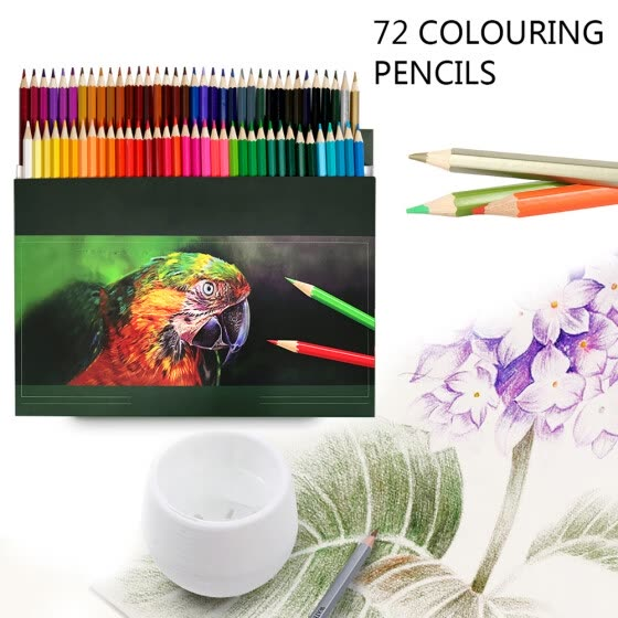 Shop 72 Coloured Pencil Set For Adult Colouring Books Or Premium