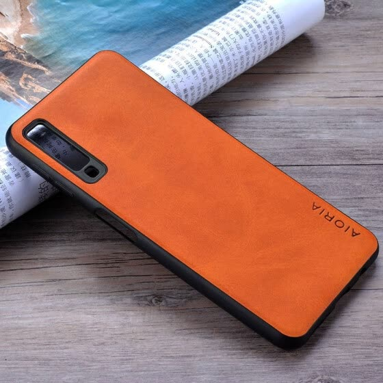 the latest b1d5d ccf80 Shop Case for Samsung Galaxy A7 2018 coque Luxury Vintage leather ...