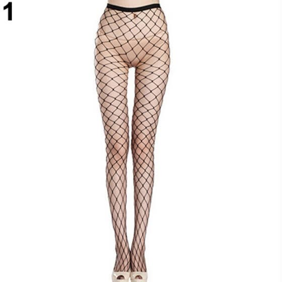 Women Sexy Fishnet Hollow Pantyhose Punk Stockings Stretchy Tights One Size
