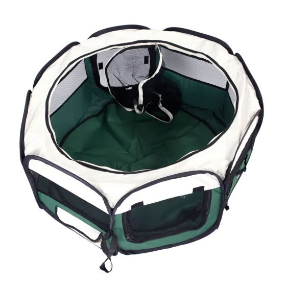 "Ktaxon 36"" Portable Foldable 600D Oxford Cloth & Mesh Pet Playpen Fence with Eight Panels Green"