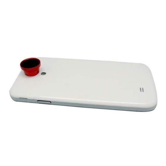 2 in 1 Phone Photo Camera Lens 0.67X Wide Angle + Macro for Mobile Phones iPhone 5 5S 4 4S Samsung Red