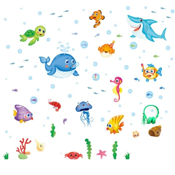 NewDesign DIY Removable Underwater world Wall Decal Family Home Sticker Mural Art Home