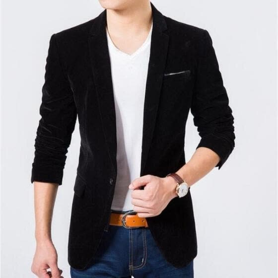 New Mens Fashion Blazer British´s Style Casual Slim Fit Suit Jacket Male Blazers Men Coat
