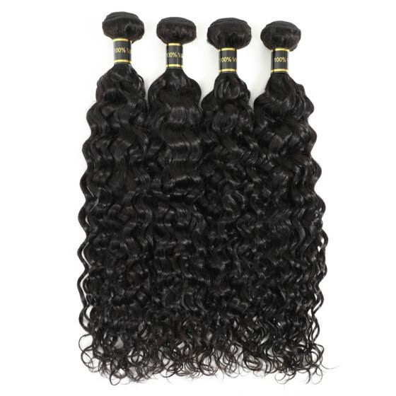 Amazing Star Water Wave Bundles Brazilian Virgin Hair Water Wave 4 Bundles Human Hair Weave Wet and Wavy Natural Color