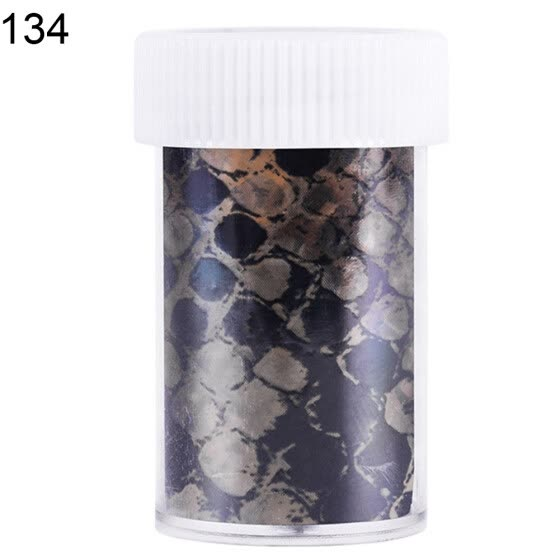 Bluelans Snake Pattern Manicure Transfer Paper Shiny Starry Sky Nail Art Stickers Decor