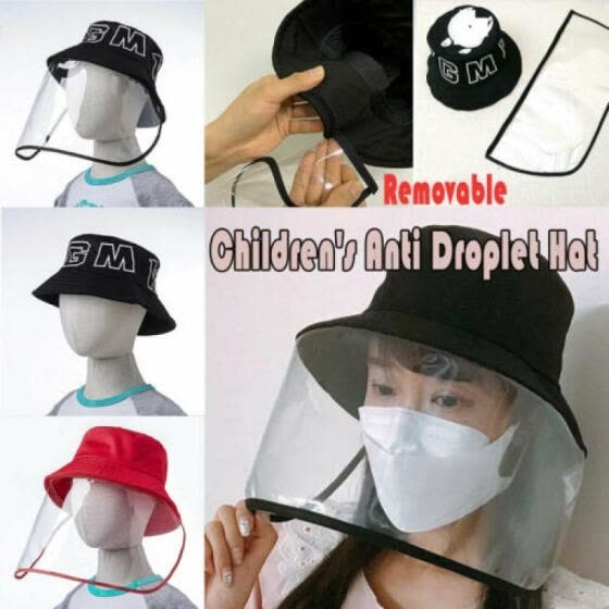 Removable Anti Droplet Hat Dust-proof Protect Covering Visor Shield Transparent
