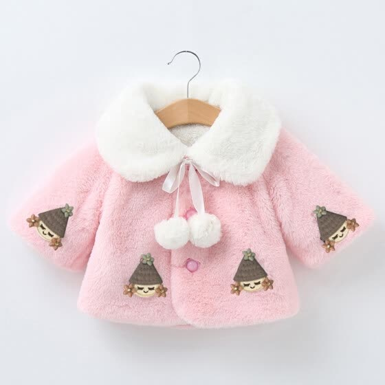 Toddler Baby girls Winter Long Sleeve Warm Jacket Hooded Outerwear Coats