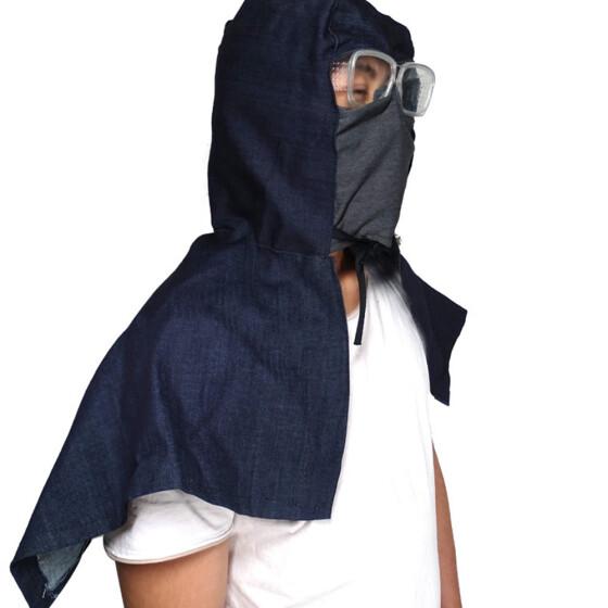 Denim Cloth Austproof Anti-fog Antivirus Fashion Hat Antivirus Hat Covers with Safety Goggles