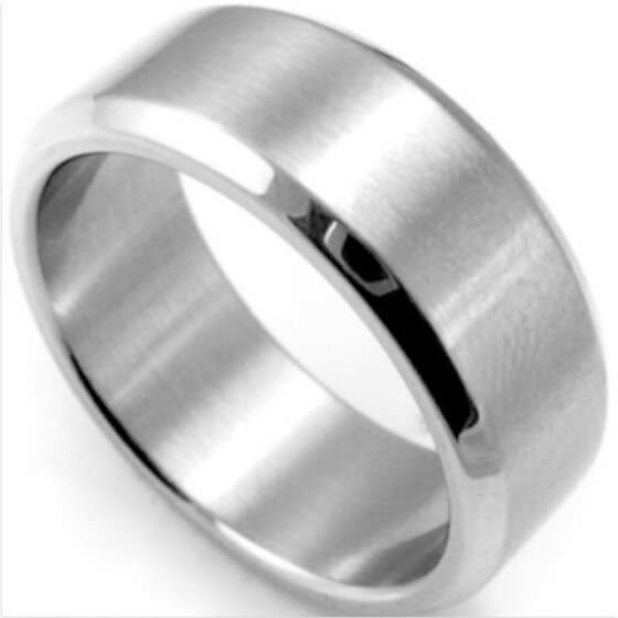 Size 5-14 Stainless Steel Rings Men Women Wedding Band Silver Black Gold Rose 8mm Ring