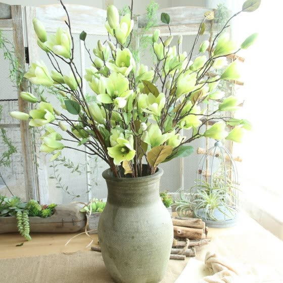 Artificial Fake Flowers Leaf Magnolia Floral Wedding Bouquet Party Home Decor GN