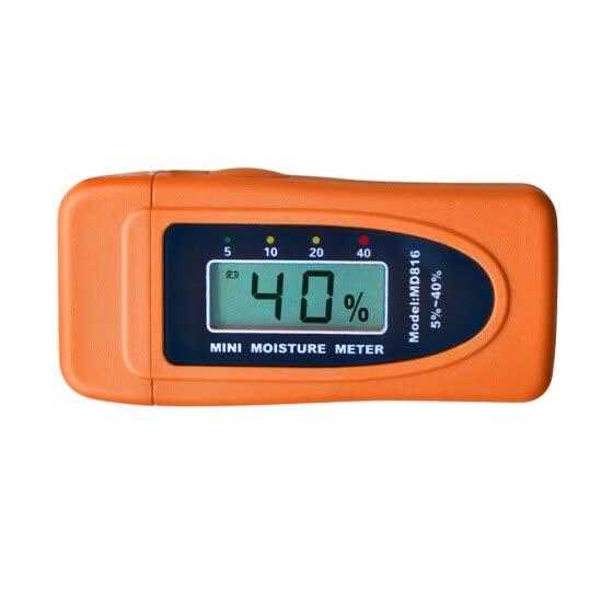 2 Pins Mini Digital Meter Bamboo Moisture Damp Detector Cotton Wood Tester
