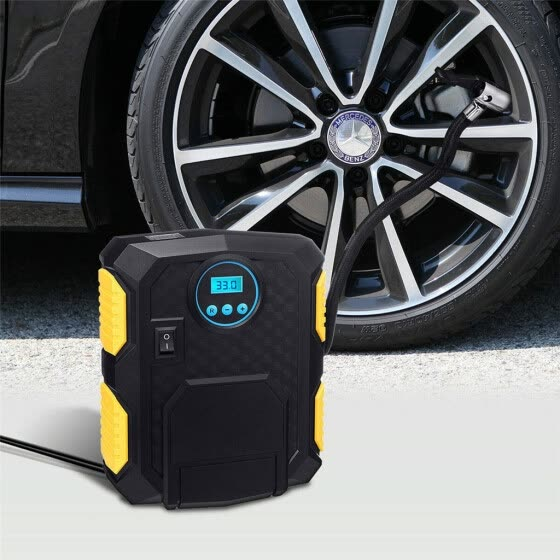 Digital 12V Car Tyre Inflator Electric Air Compressor Automatic Portable Pump