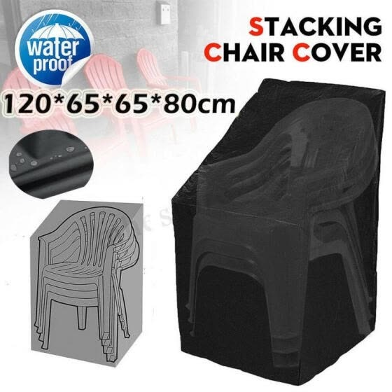 1pc Waterproof Stacking Chair Cover Outdoor Garden Patio Chairs Furniture Cover