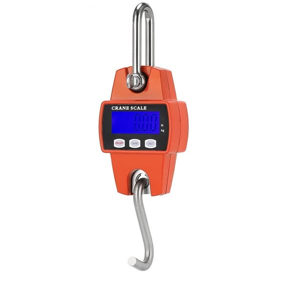 NEW 300 KG/600 LBS Digital Crane Scale Industrial Hook Hanging Weight Scale