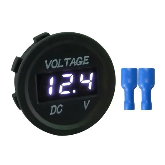 DC 12V 24V LED Voltage Display Panel Digital Voltmeter Waterproof Motorcycle Car