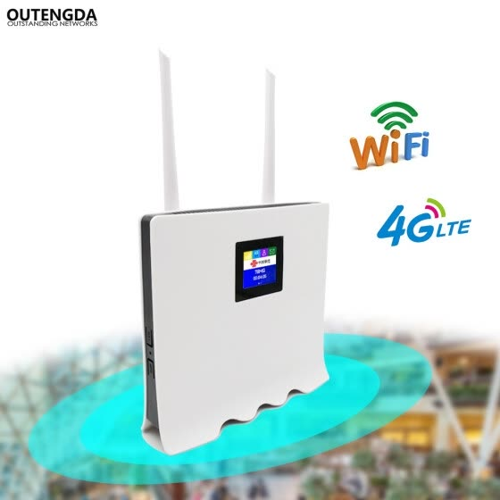 Shop 4G WiFi Router 300Mbps Wireless Wi-Fi Mobile LTE/3G/4G