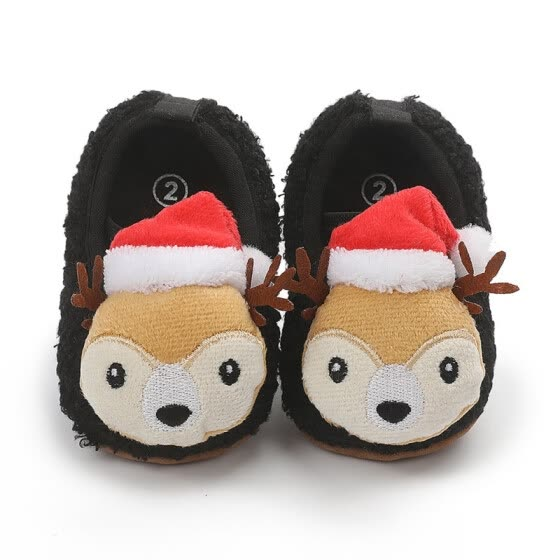 Baby Christmas Deer Shoes Autumn Anti Slip Casual Walking Cute Shoes Sneakers Soft Soled Toddler First Walkers