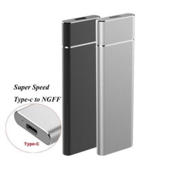 M.2 NGFF to USB3.1 Mobile Hard Disk Cartridge Enclosure Case M.2 SSD to Type C Hard Disk Box