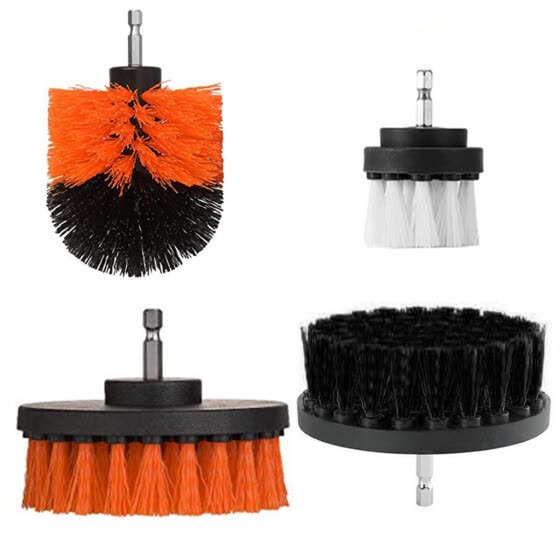 Lovehome 4 Piece Scrub Brush Power Drill Cleaning Brush Cleaner Combo Tool Kit Perfect for Cleaning Grout