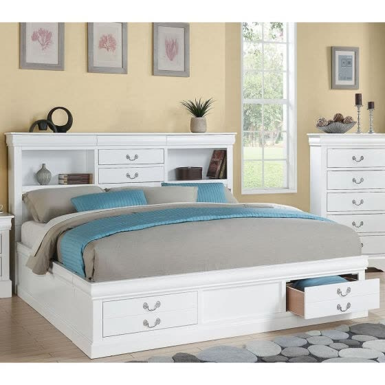 ACME Louis Philippe III Queen Bed in White 24490Q