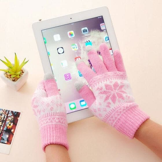 Warm Winter Gloves Knitted Touch Gloves Men Women Gloves Touch Screen Glove