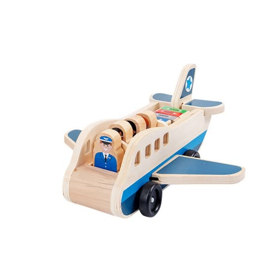 Wooden Children'S Aircraft Simulation Aviation Model Set Toys Gift For Kids
