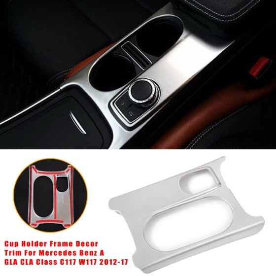 Car RHD Cup Holder Frame Trim For Mercedes Benz A GLA CLA Class C117 W117 12-17