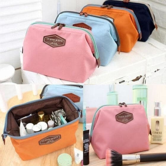 Women Travel Makeup Bag Organizer Case Lady Cosmetic Pouch Clutch Handbag