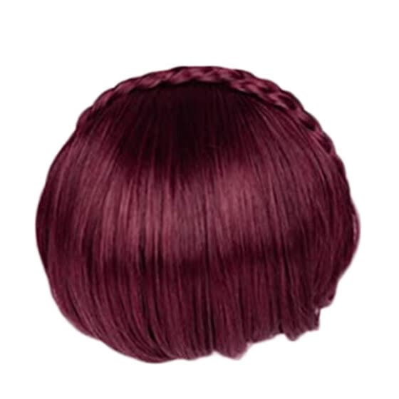 Braid Hairband Synthetic Bangs Heat Resistant Bangs Hair Extensions for Lady