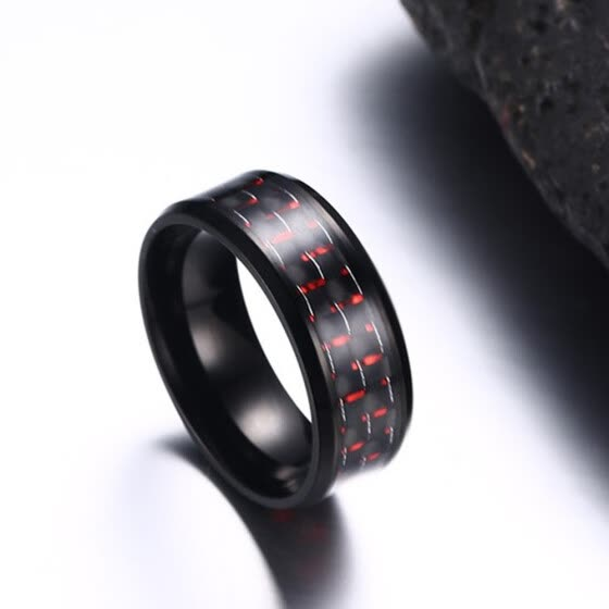 New Stainless Steel Ring Titanium Silver Black Gold Men SZ 7-12 Wedding Red 9