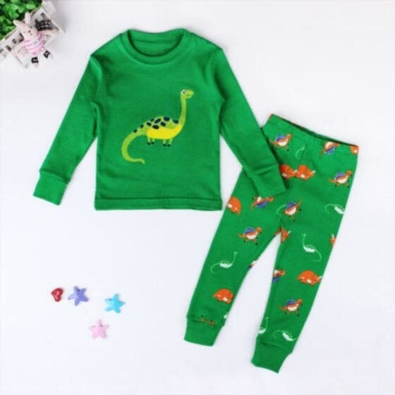 Kid Baby Boy Girl Dinosaur Pyjamas Nightgown Nightwear Sleepwear Homewear