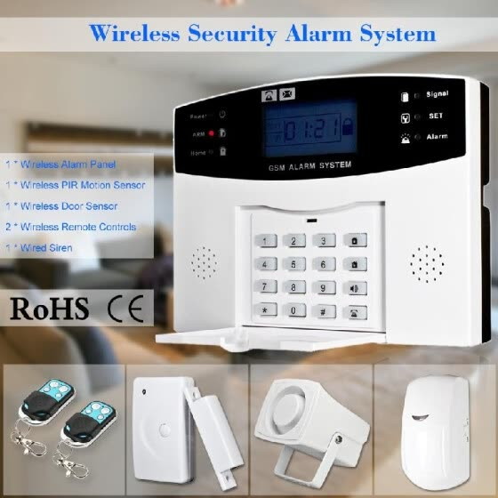 Shop Wireless GSM SMS Home Burglar Security Alarm System Detector