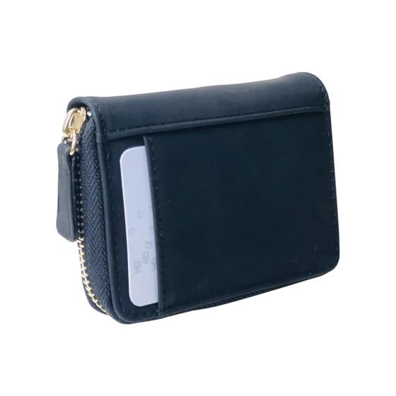 Women Men Fashion Accordion Style Matte Leather Fabric Card Wallet Package