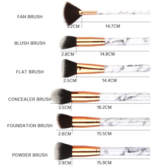15 Pcs Makeup Brush Set Professional Face Eye Shadow Eyeliner Foundation Blush