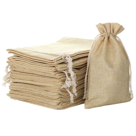 20PCS Drawstring Pouch Multipurpose Burlap Candy Pouch Gift Bag Jewelry Pouch