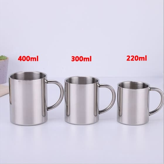 Stainless Steel Cup Mug Drinking Coffee Beer Picnic Camping Travel Tea Cup