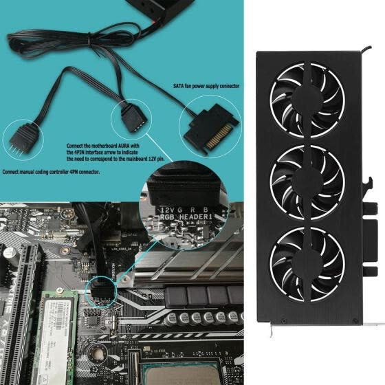 JONSBO VF-1 RGB Graphics Video Card Cooling Fan Support AURA Motherboard