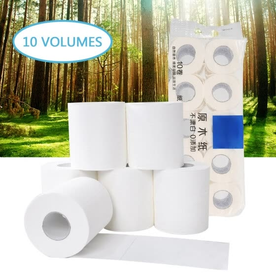 10 Rolls Toilet Tissue Home Bath Toilet Roll Toilet Paper Soft Toilet Paper Skin-friendly Paper Towels