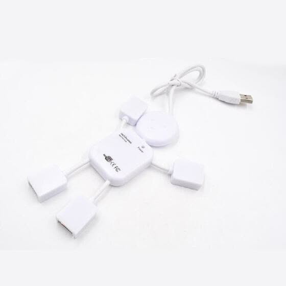 USB2.0 4-port HUB Splitter One for Four Suitable for  PC   Charging Stand Card Reader Desktop