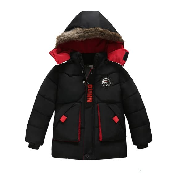 Kids Boys Baby Solid Winter Hooded Down Coat Jacket Outwear Padded Clothes