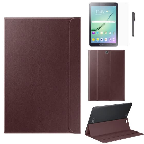 Leather Case For Samsung Galaxy Tab S2 9.7 Inch T810 T815 +Film +Pen