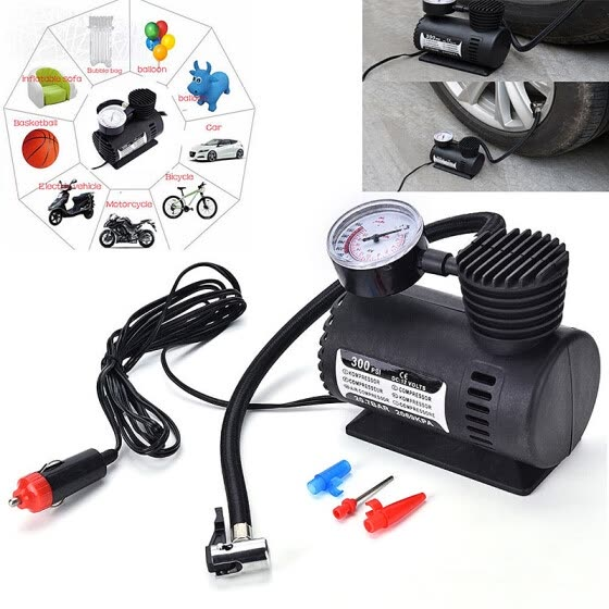 Portable Mini Air Compressor Electric Tire Inflator Pump 12V for Emergency Relief;Mini Air Compresso