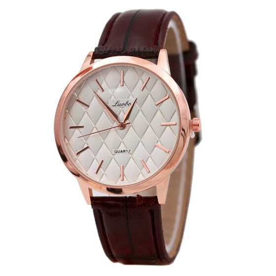 Fashion Women Leather Band Analog Quartz Movement Wrist Watch