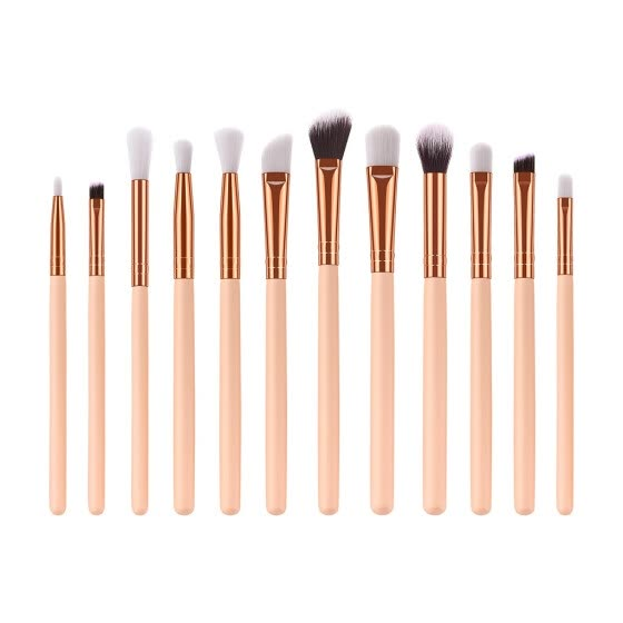 12 Pcs Eye Brush High-End Wooden Handle Eye Shadow Brush Makeup Brush Set