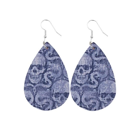 Trend Personality Leather Pattern Drop Earrings Jewelry Gift
