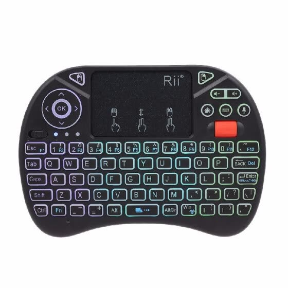 Rii i8X Plus 2.4GHz Backlit Wireless Keyboard Touchpad Mouse Voice Input Handheld Remote Control for Android TV BOX Smart TV PC